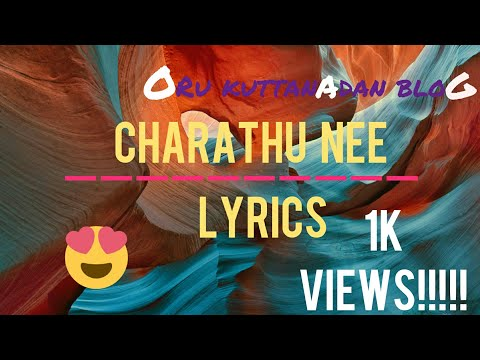Charathu nee Lyrics | Oru Kuttanadan Blog Song |