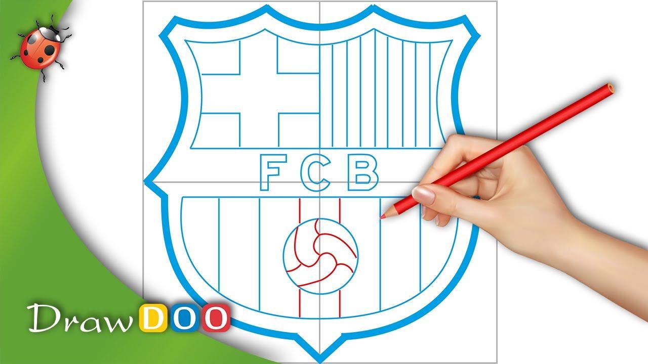 fc barcelona logo from fifa logos drawing tutorial youtube
