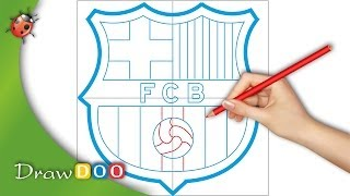 """This is an example of our drawing tutorial for """"how to draw football logos"""" series, feel free check it out on website: http://www.drawdoo.com"""