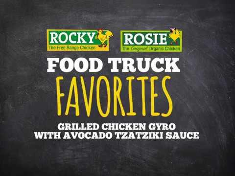 Food Truck Favorites Grilled Chicken Gyro With Avocado Tzatkiki