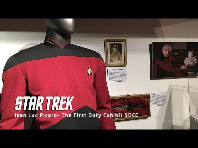 Jean Luc Picard  The First Duty Exhibit at San Diego Comic Con 2019
