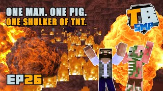 Ancient debris mining with ALL THE TNT! | Truly Bedrock Season 2 [26] | Minecraft Bedrock SMP