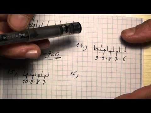 Ismétlés nélküli variáció (feladatok a leírásban)