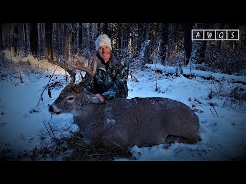 Trophy Whitetail Deer And Wolf Hunts With AWGS In Alberta, Canada - 3 For 3 In 3