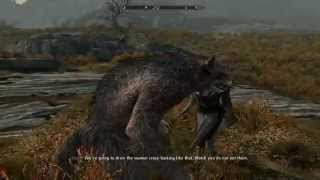 Skyrim Inigo Reacts to Werewolf