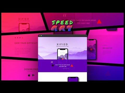 Web Design Speed Art - iPhone X Inspired App Website | FIGMA