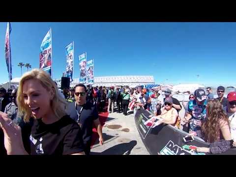 360 Charlize Theron arrives at NASCAR Driver † s Meeting