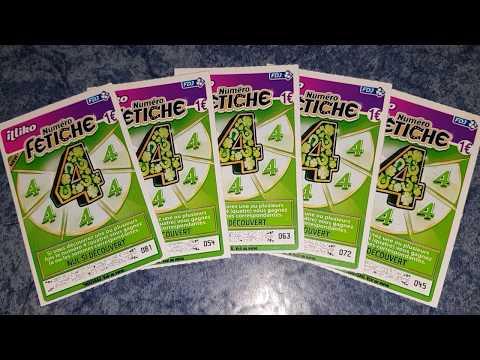 Grattage de cinq tickets FÉTICHE 4