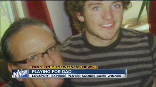 Son scores game winning goal for late father