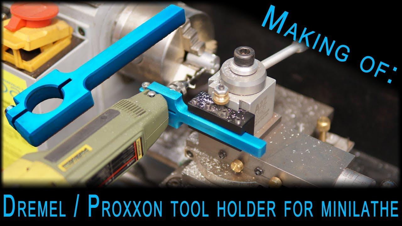 making of dremel proxxon drill holder for mini lathe. Black Bedroom Furniture Sets. Home Design Ideas