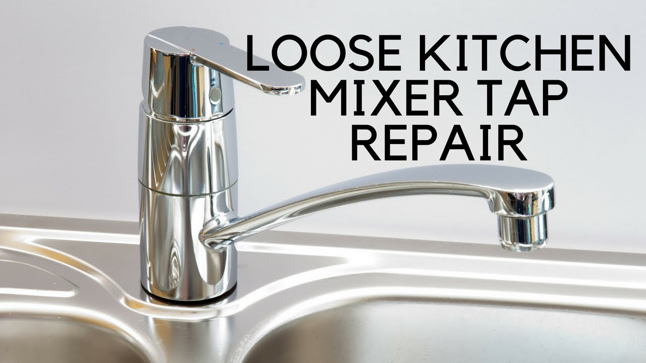 kitchen tap home depot pantry cabinet loose mixer easy fix youtube