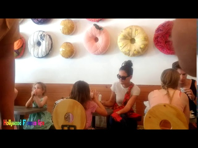 Suri Cruise & Katie Holmes eat donuts in NYC Hollywood Famous Life
