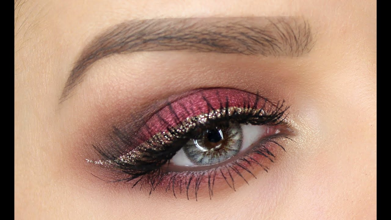 Cranberry and gold eye makeup tutorial shonagh scott showme cranberry and gold eye makeup tutorial shonagh scott showme makeup youtube baditri Images