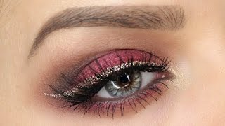 Cranberry And Gold Eye MakeUp Tutorial | Shonagh Scott | ShowMe MakeUp