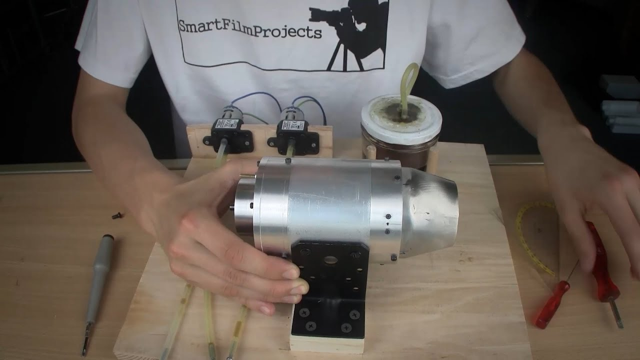 Jet Engine Homemade 2 0 Complete Setup Youtube