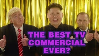 Funny TV commercial featuring Donald Trump, Kim Jong Un and Vladimir Putin