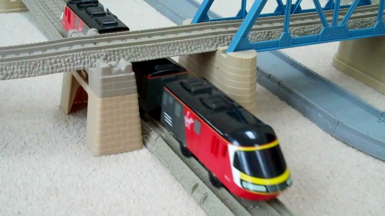 Tomy Virgin Train Running On A Trackmaster Track Kids