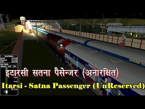 इटारसी - सतना पैसेंजर || Itarsi - Satna Passenger (UnReserved) || IR IN MSTS OPEN RAIL