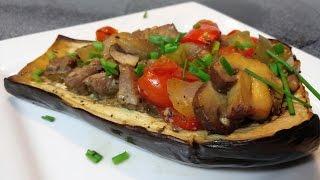 Stuffed Eggplant With Nouveau  Georgia Ragu