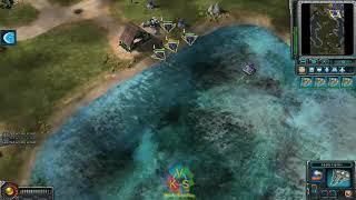 Command & Conquer Red Alert 3 Unprising-Skirmish-Destroy Enemies Using Harbinger Gunship