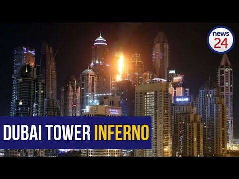 Fire rips through Torch Tower in Dubai