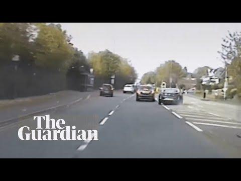 Police pursuit of drug dealers in West Midlands caught on patrol dash-cam video