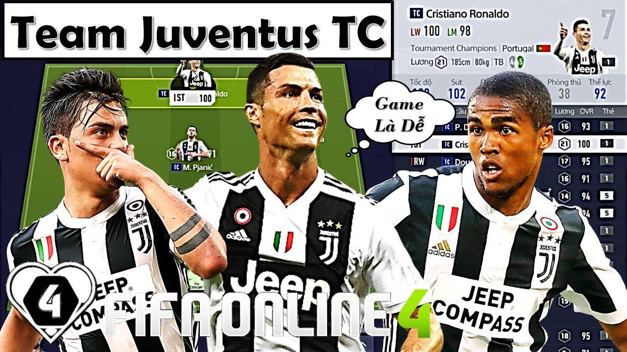 """Xây Dựng & Trải Nghiệm Đội Hình """" JUVENTUS TC 2 TỶ """" XUẤT SẮC NHẤT Với Chim Đầu Đàn C. Ronaldo TC"""