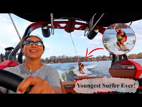 My Kid's First Time Wake Surfing! (FIRST TRY) from YouTube · Duration:  10 minutes 51 seconds