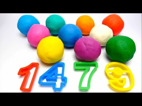 Play-Dough Numbers Learning English