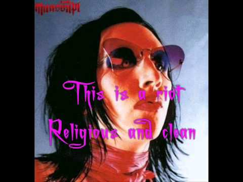 Posthuman - Marilyn Manson [Lyrics, Video w/ pic.]