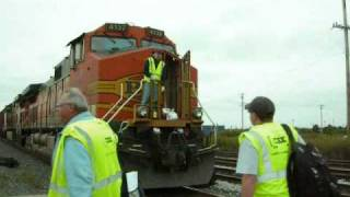 CSX Crew Change with BNSF engine