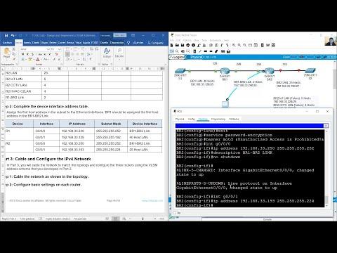 11.10.2 Lab - Design and Implement a VLSM Addressing Scheme