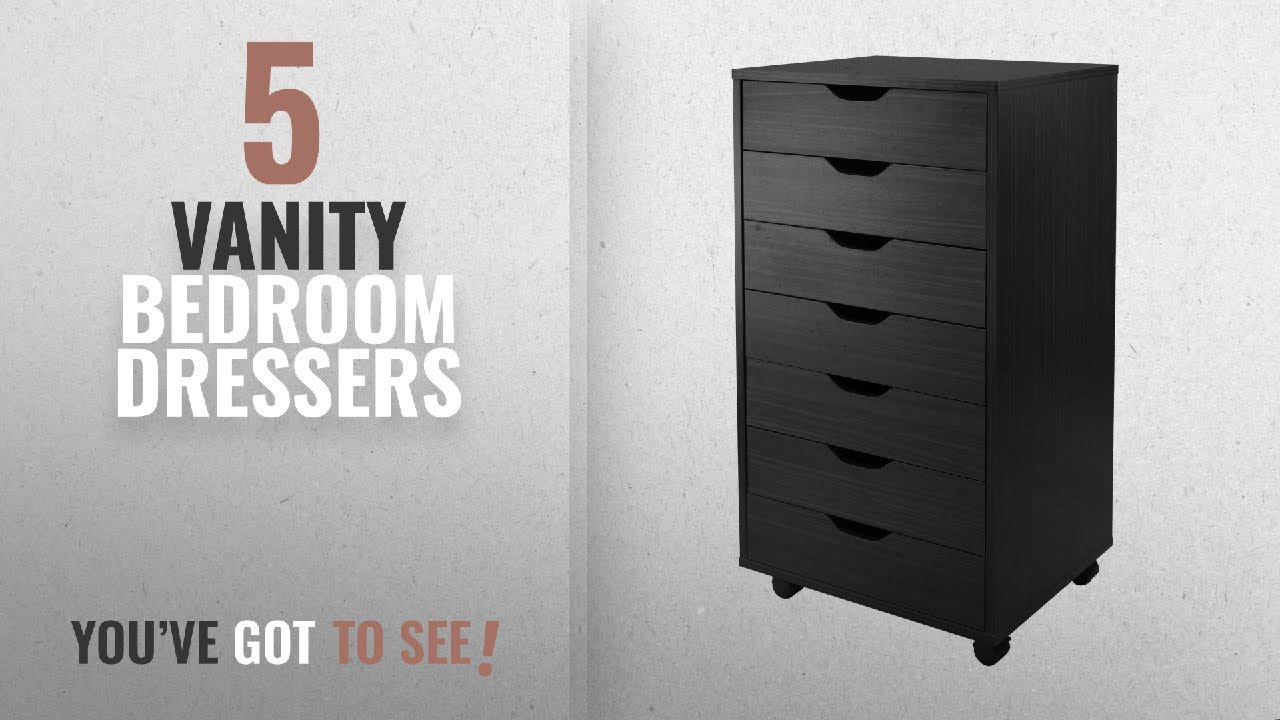 Top 10 Vanity Bedroom Dressers [2018]: Winsome Halifax Cabinet For  Closet/Office, 7 Drawers, Black