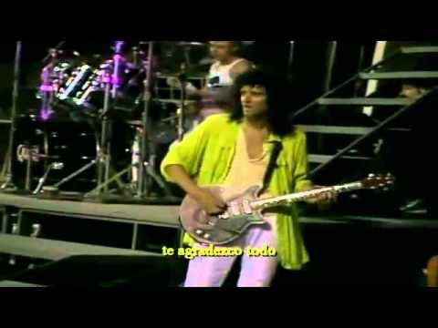 Queen We Are The Champions Live At Wembley (Cámara Brian May ).[Subtitulado Al Español].{HD}