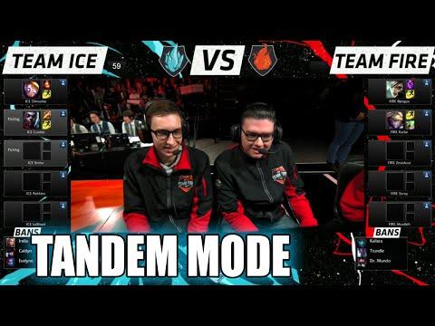 Team Ice vs Team Fire | 10 vs 10 Tandem Mode Match LoL All-Stars 2015 LA | Fire vs Ice Tandem