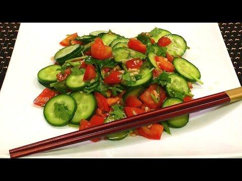 Салат из двух видов капусты и огурцов - пошаговый рецепт с