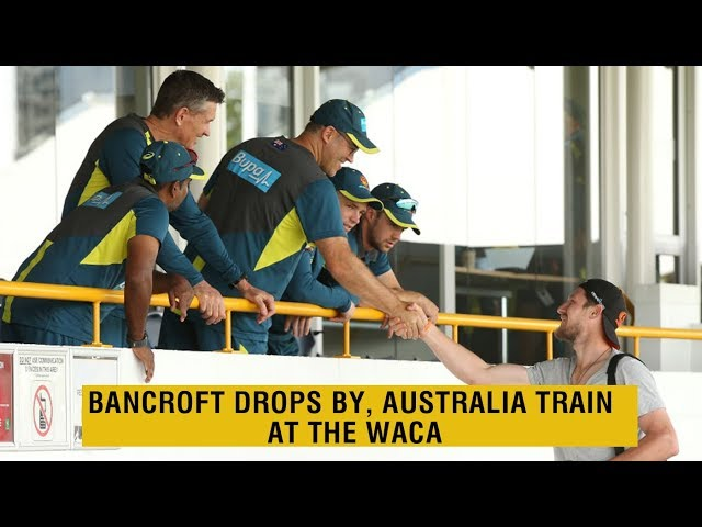 Bancroft says hello, Siddle plays with the kids | Australia practice in Perth