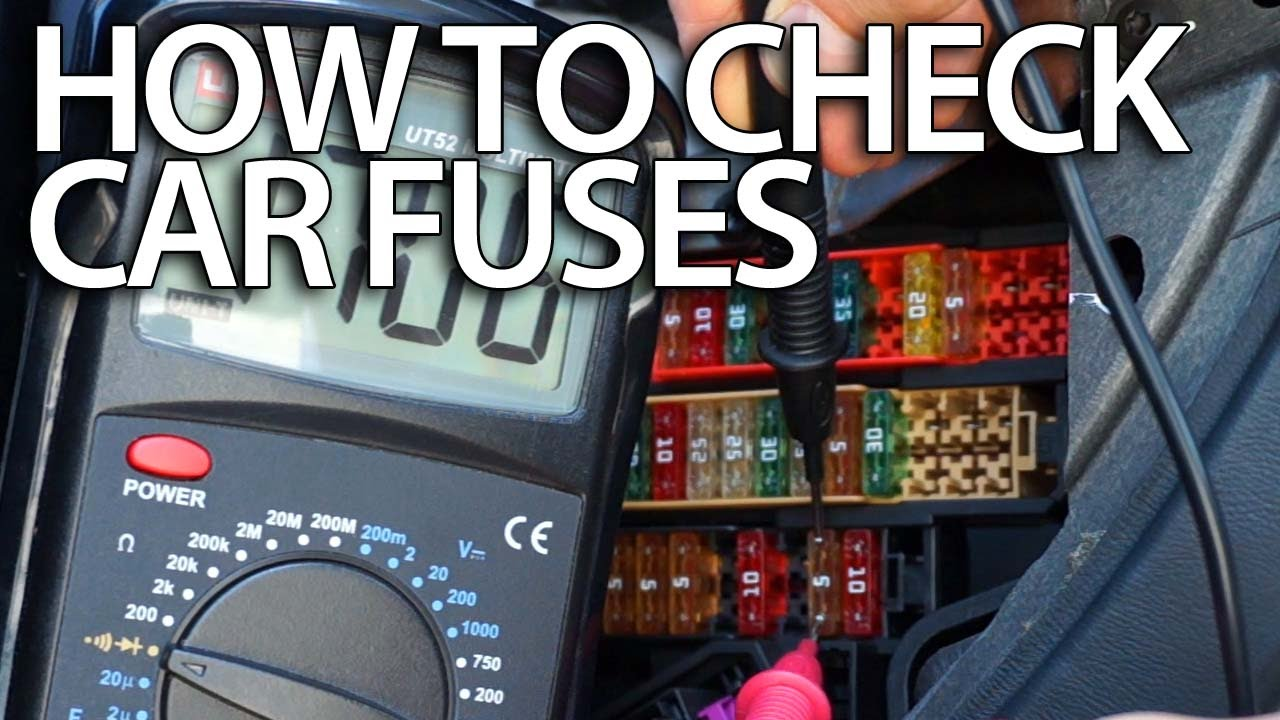 maxresdefault how to check car for blown fuses with multimeter (electric how to use a car fuse box at bayanpartner.co