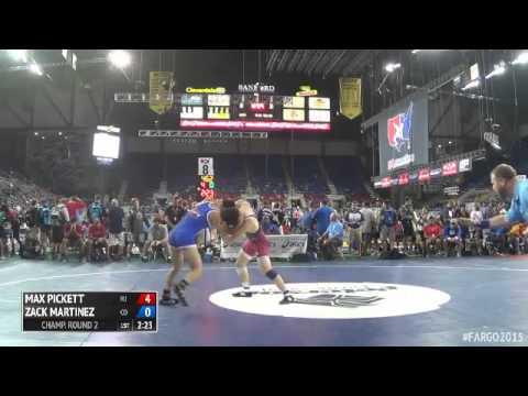 145 Champ. Round 2 - Zack Martinez (Colorado) vs. Max Pickett (New Jersey)