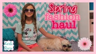 SPRING SHOPPING HAUL - JUSTICE & AEROPOSTALE