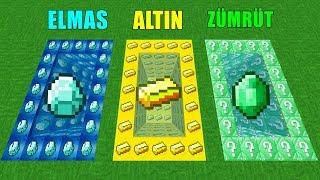 ELMAS VS ALTIN VS ZÜMRÜT HAVUZ ŞANS BLOKLARI! 😱 - Minecraft