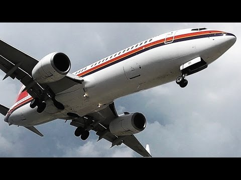 Meridiana 737-800-Low Landings & Extreme Wet Jetblast on Takeoff-Skiathos, the Second St Maarten