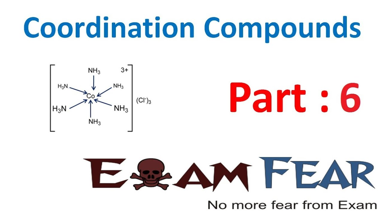 a study of bonding in coordination compounds environmental sciences essay College of natural sciences school of chemistry and biochemistry  the synthesis of novel organic and inorganic compounds,  biochemistry is a field of study.