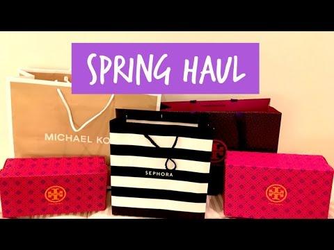 Spring Haul - Tory Burch, Sam Edelman, Michael Kors & Sephora!