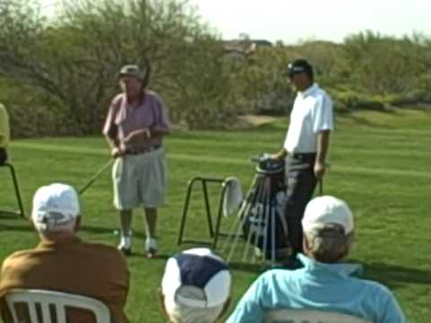 Miller Barber telling stories at Grayhawk Golf Club with Stan Utley