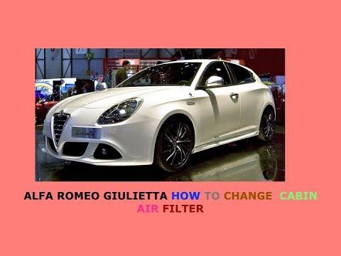 Alfa Romeo Giuletta How To Change Cabin Air Filter