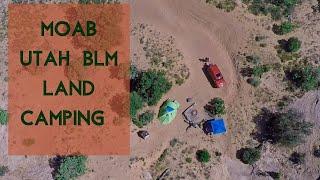 Moab Utah BLM Ląnd Camping   Dispersed Camping