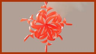 DIY 3d Paper Snowflakes | Simple Paper Crafts for beginners and Kids