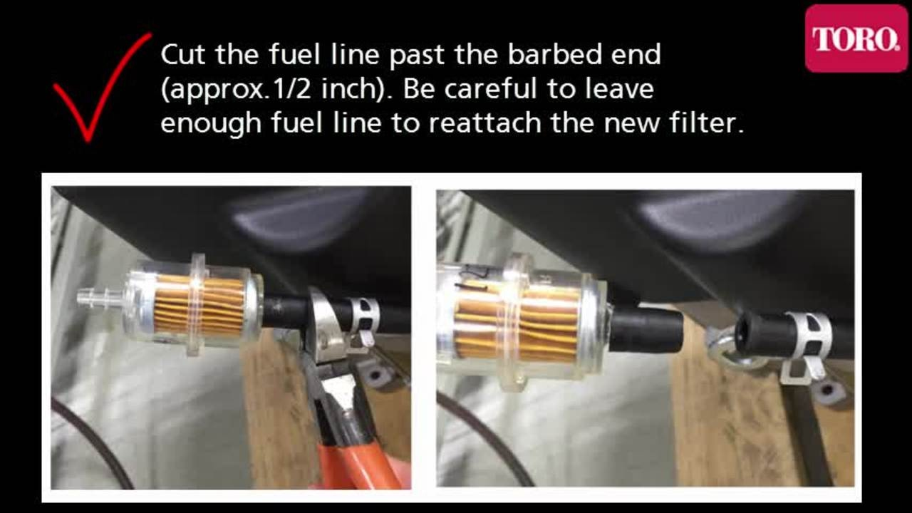 fuel filter replacement for toro timecutter zero turn mowers [ 1280 x 720 Pixel ]
