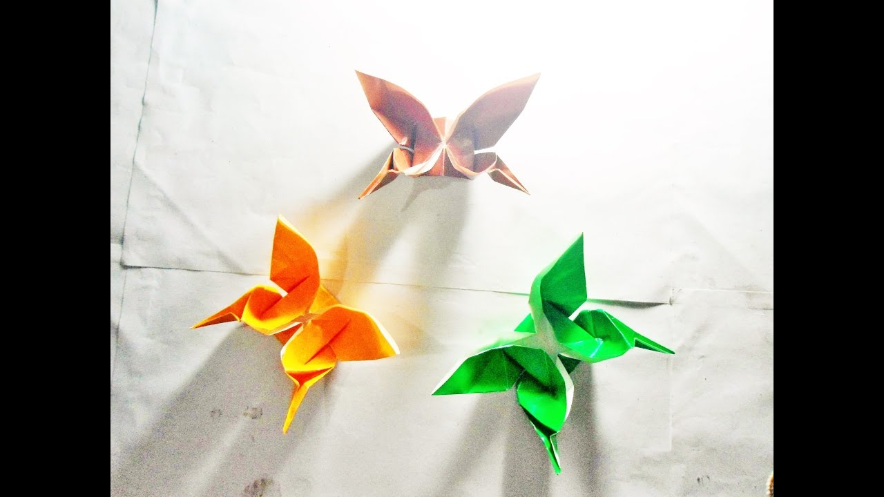 Origami Butterfly SwallowTail Tutorial Step By